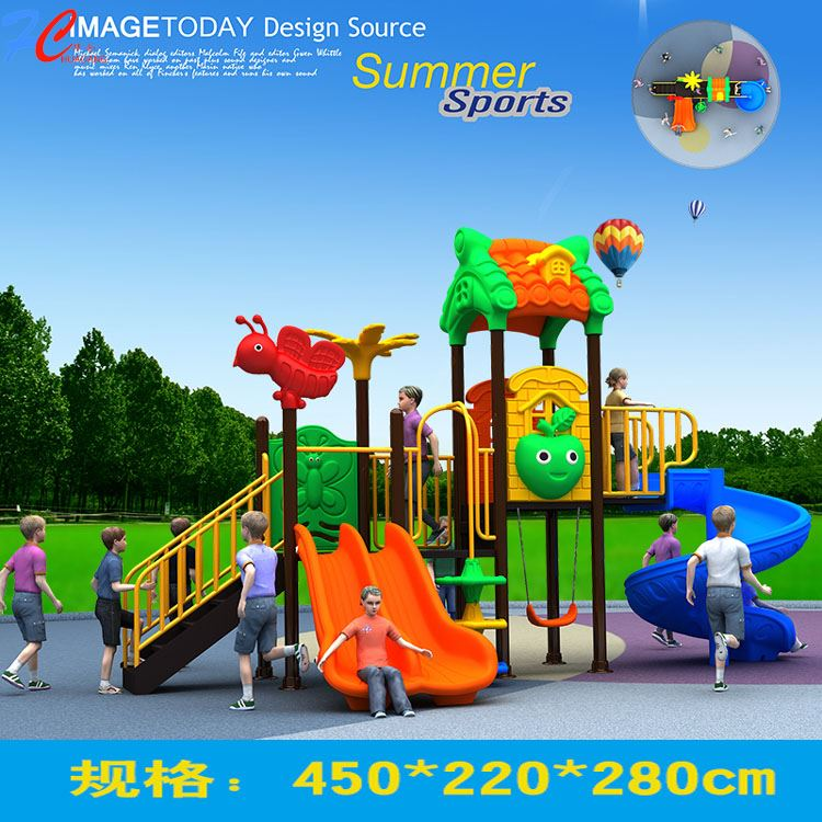 Kids Club Cheap price playground sets with high quality for kids fund
