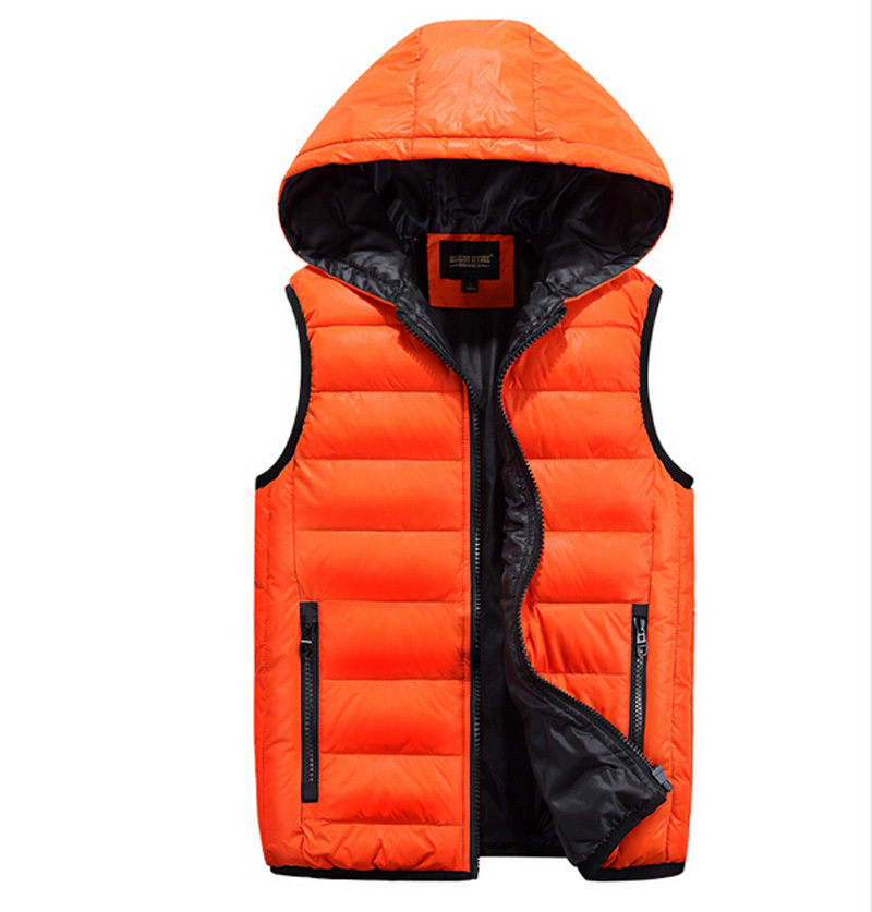 2015 Winter Down Cotton Padded Vest Male Lovers Coat Men Vest Thickening Patchwork Coat 3 Colors Plus Size Jacket