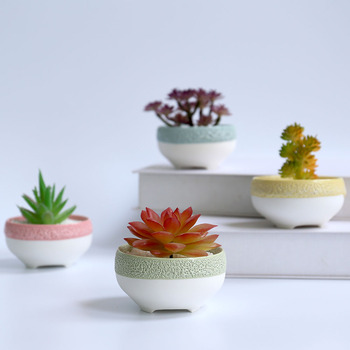 New design unglazed ceramic mini succulent pots for indoor use
