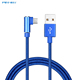 High Quality cheap price nylon braided 90 degree micro usb charging cable for Cellphone