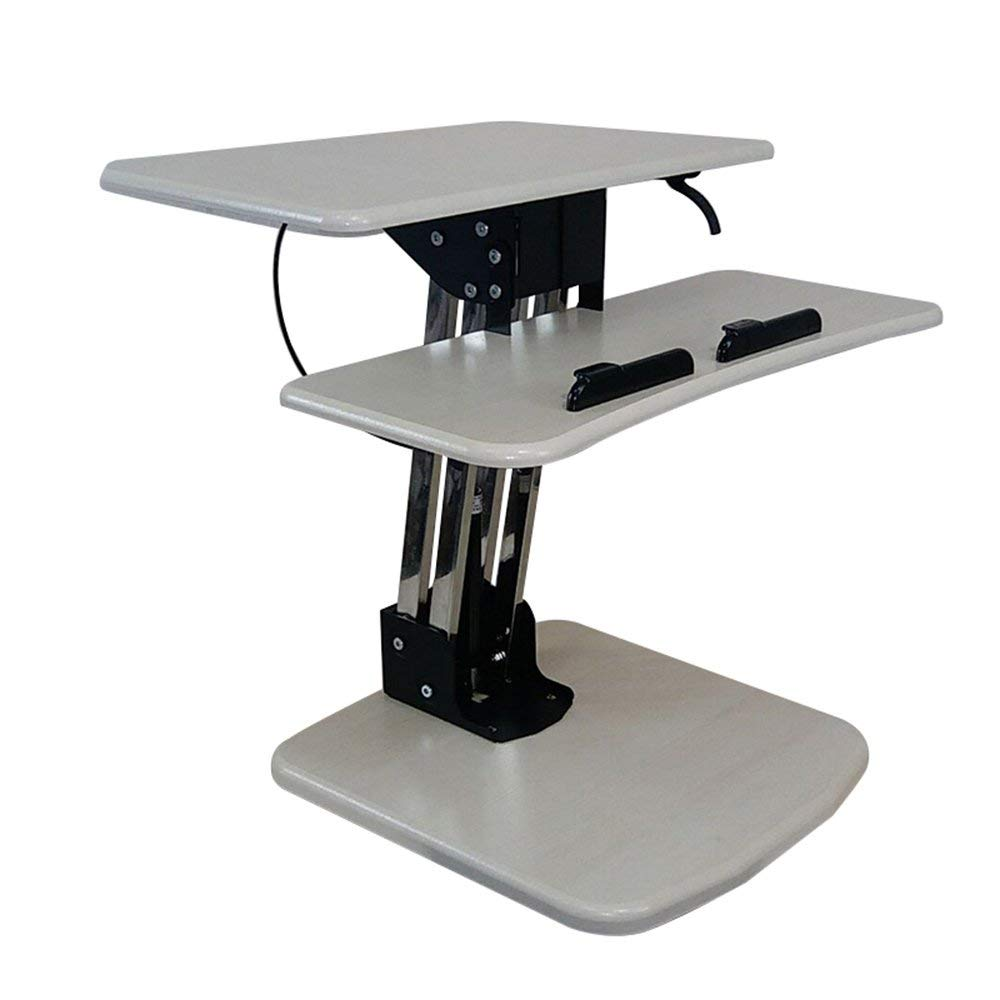 Tables MEIDUO Large Standing Desk, Extra Wide Height Adjustable Sit-Stand Desk Converter for Dual Monitors, Laptop, Desktop & Keyboard, Pre-Assembled Ergonomic Riser, (Size : Height 175-195cm)