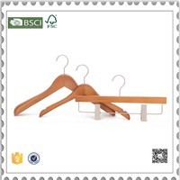 Eisho -betterall colored wooden clothes hanger suit hanger with clips