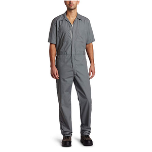 Gray Short-Sleeve Coverall Work Wear Uniforms