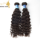 Mona Hair hot selling can be straighten double weft no tangle virgin human hair weaving brazilian curly hair