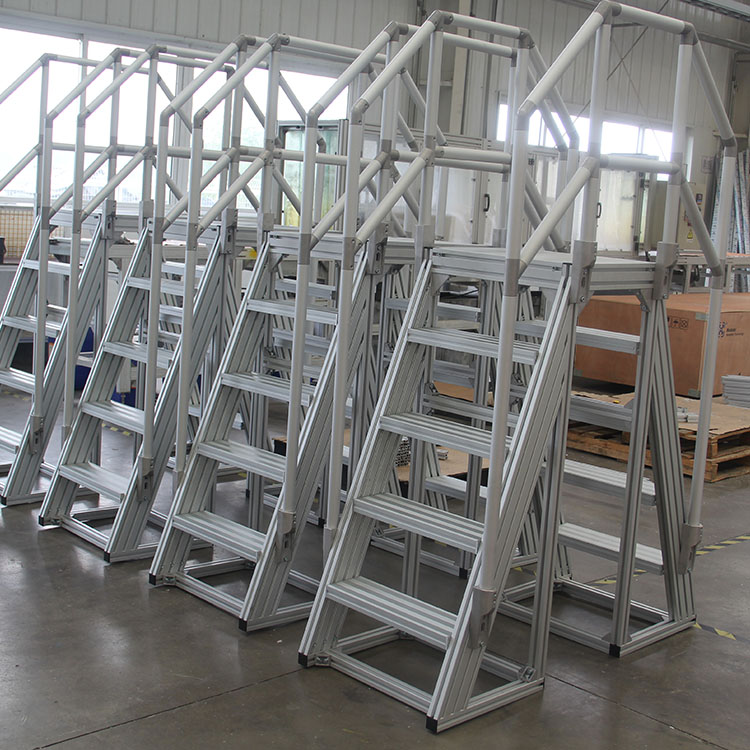 alibaba top 10 suppliers custom stairs staircase platform for aerospace equipment
