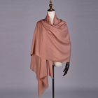 OEM good quality plain color 100% women wool scarf keep warm classic solid long scarf with tassels shawl for ladies