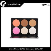 Pro 6 Piece Blush Face Powder Foundation Palette Makeup