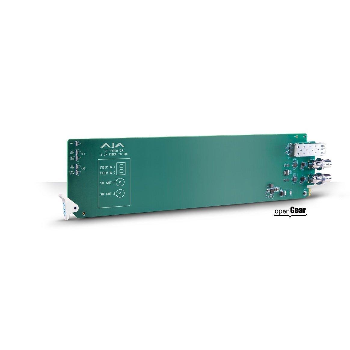 AJA OG-FIBER-2R openGear 2-channel Fiber to SDI Converter (Req 2 slots) (OG-FIBER-2R)