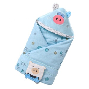 Autumn Cute pig receiving cotton Baby Swaddle Blanket