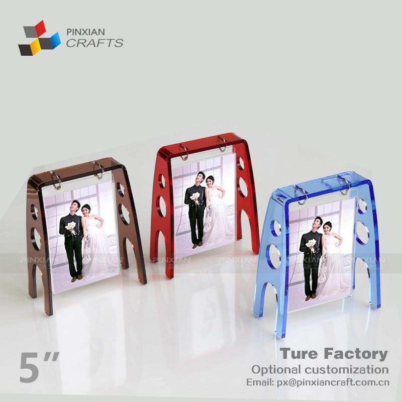 Fábrica personalizada diseño diferente azul columpio marco de fotos ...