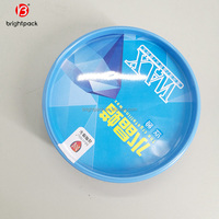 hot sale car crystalline wax tin can empty customized tin container