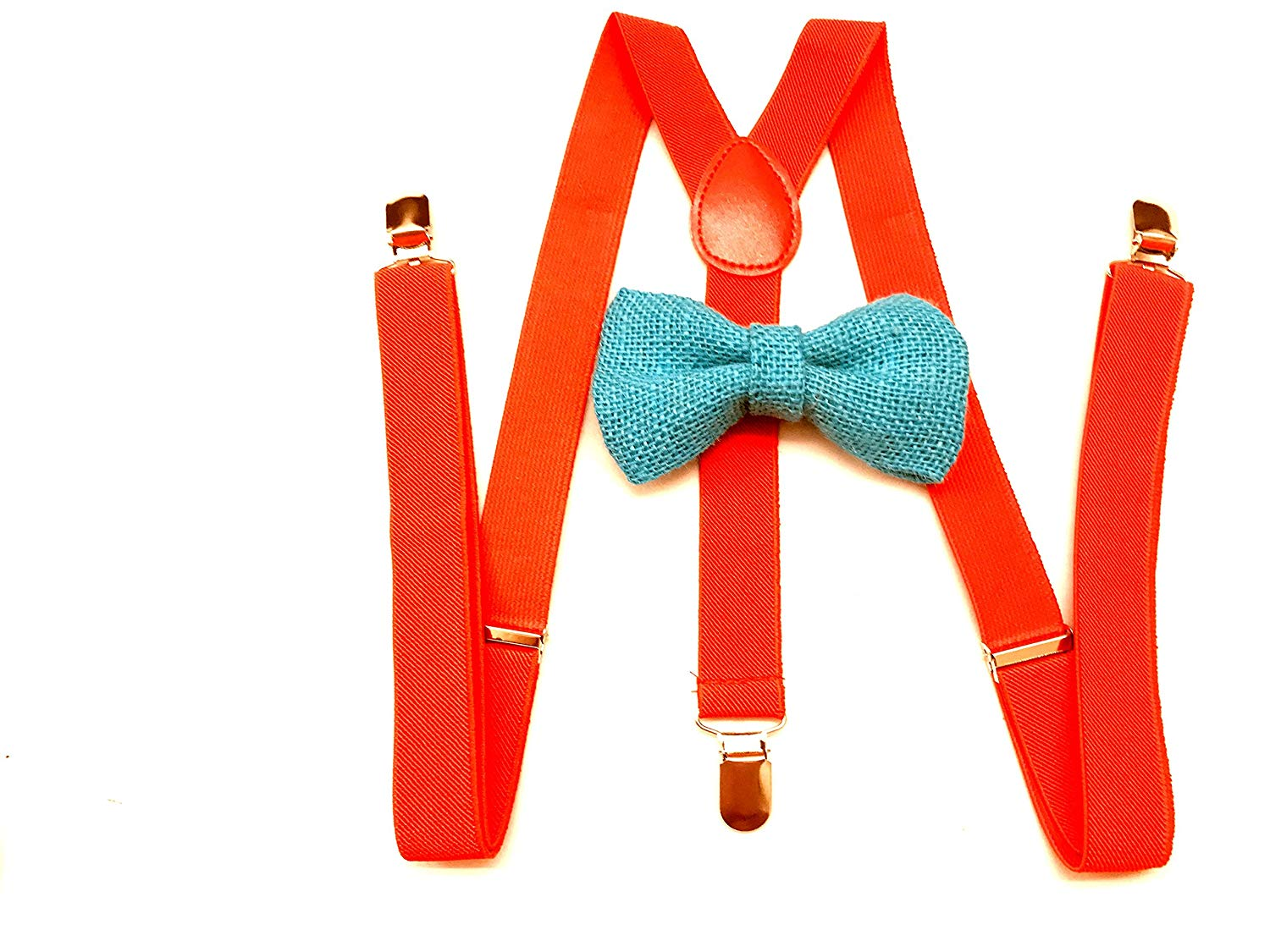 Awesome red Wedding Accessories Adjustable Bow Tie & Suspenders