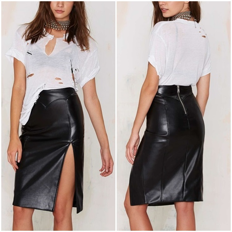 mature women sexy club mini leather skirt pictures pencil