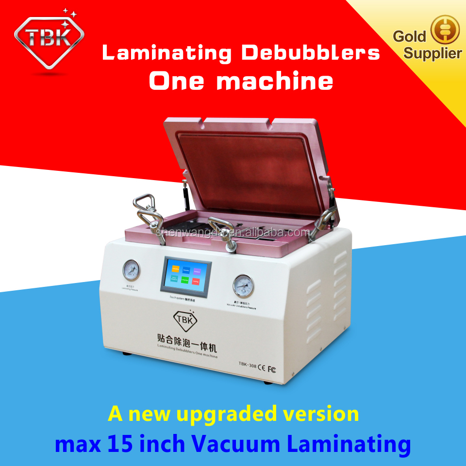 TBK High Quality OCA Vacuum LCD Separator Machine Bubble Removing For LCD <strong>Max</strong> 15inch Glass Removing