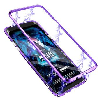 Magnetic Adsorption Ultra Slim Metal Frame Tempered Glass Back Cover Case For Samsung Galaxy S9 Plus