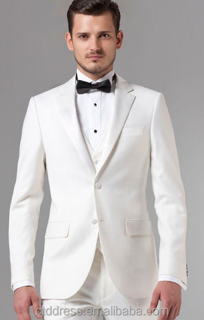 Essential White Three-piece Suit,Handsome Tailored,Wedding Suits ...