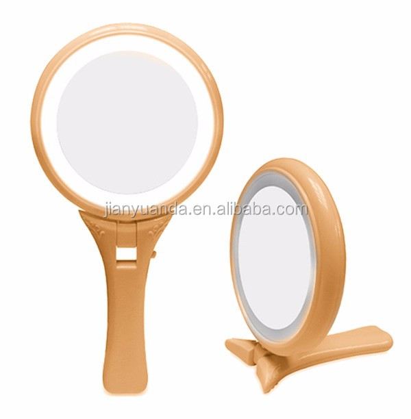 Personalized two way princess hand mirror with long handle