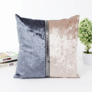 wholesale indian decorative beautiful velvet embroidered fall throw pillows covers for bed decorating