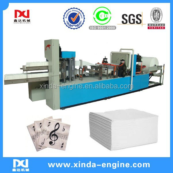colors printing 1/4 folding automatic napkin paper converting machine NP7000K