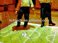 An easy installed, portable dance floor makes club full of customers