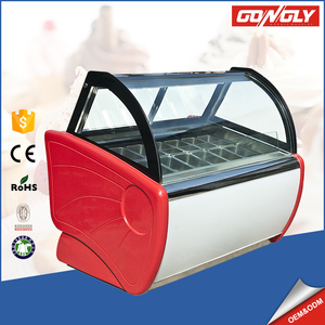 Commercial cool storage cabinet / salad bar refrigerator / Ice cream freezer for restaurant