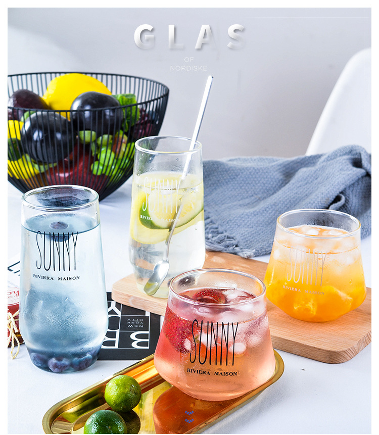 350ml Handmade Heat Resistant Borosilicate Glass Cup For Drinking