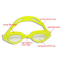 The new waterproof anti UV silicone myopia swimming goggles for water sports
