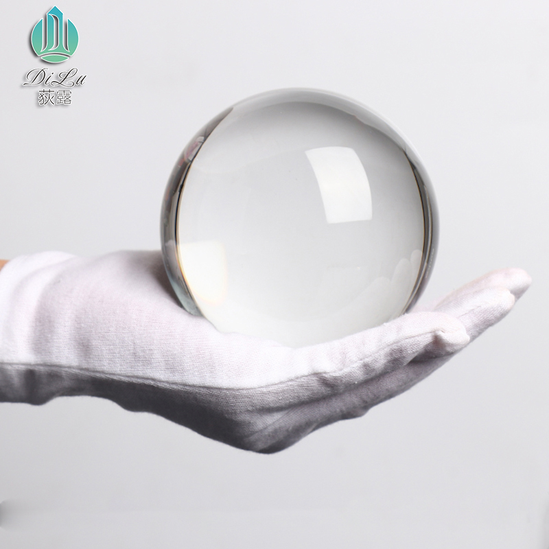 New arrival design hot sale open hole clear glass cover solid glass ball