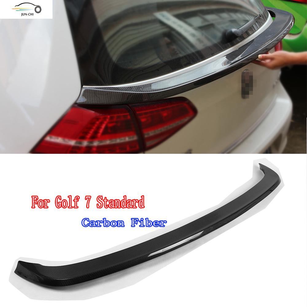 golf 7 mk 7 carbon fiber rear middle trunk spoiler for. Black Bedroom Furniture Sets. Home Design Ideas