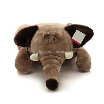 Ce Certificate Plush Animal Pillow Blanket Elephant Plush Toy Coral