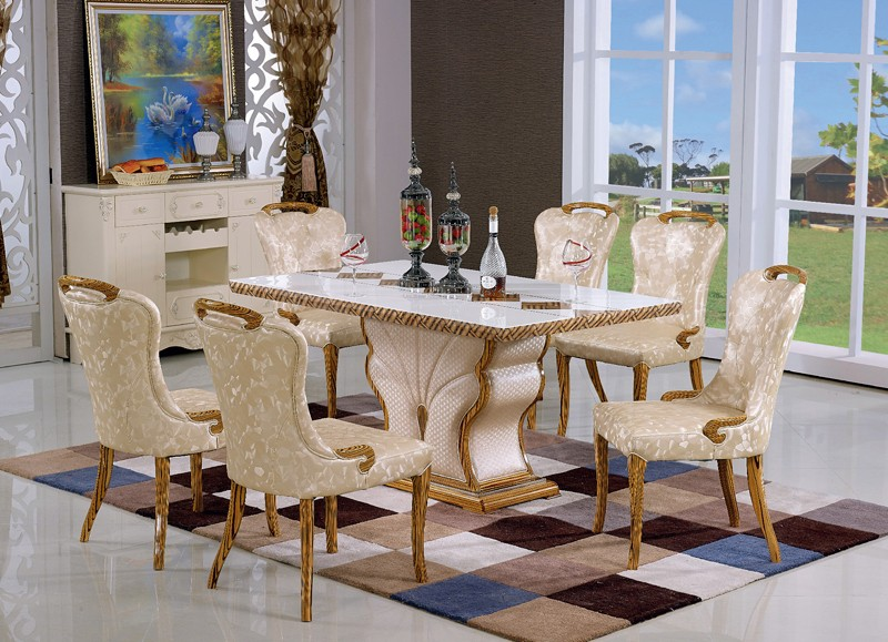 Latest new design round dining table set for s314 buy for Dining table latest model