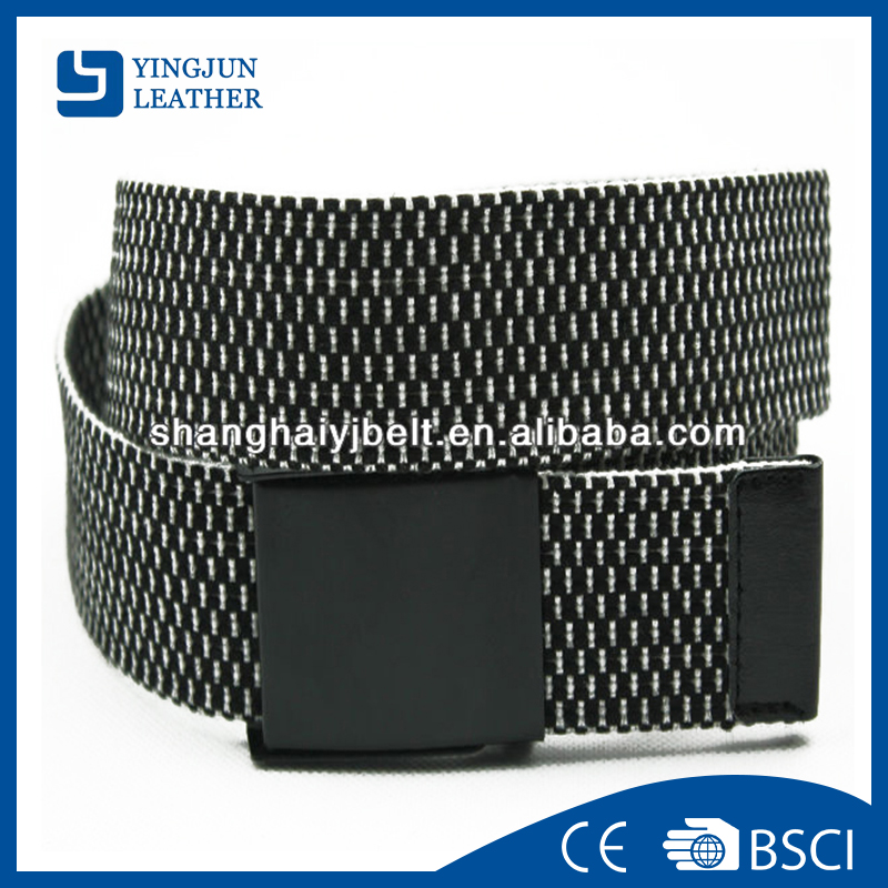 Fashion Men White Black Braided Canvas Belt