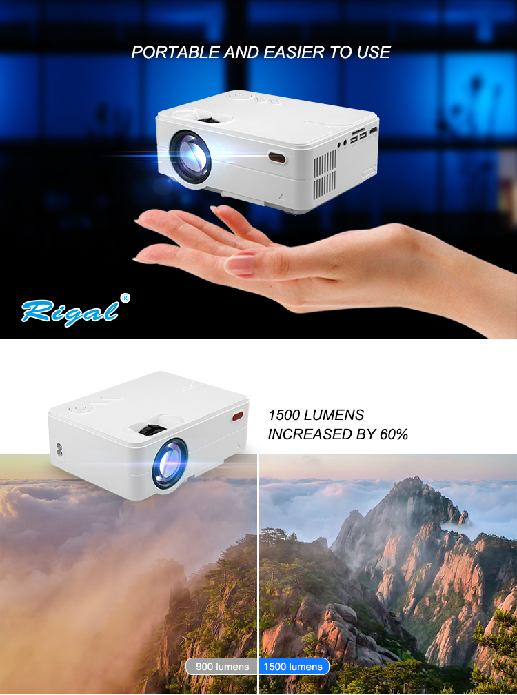 video projector led android home mini projector