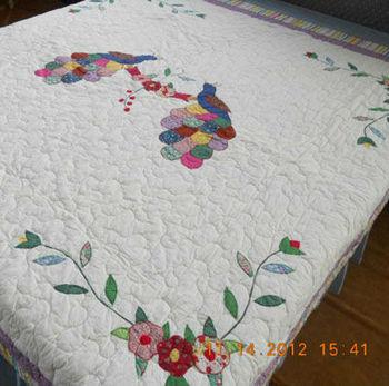 200x200cm Applique Bird Patchwork Quilt Xdn028