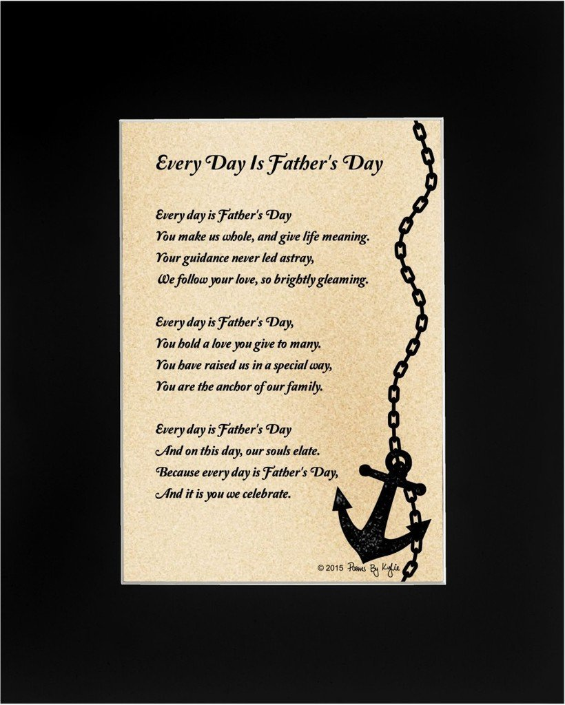Buy fathers day gift for dad every day is fathers day poem 8x10 fathers day gift for dad every day is fathers day poem 8x10 single matted poetry stopboris Images