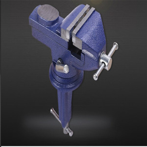 50mm 60mm 65mm 70mm 75mm 80mm Rotatable High Duty Mechanic Press Locking Swivel Base Table Top Clamp Universal Table Bench Vise