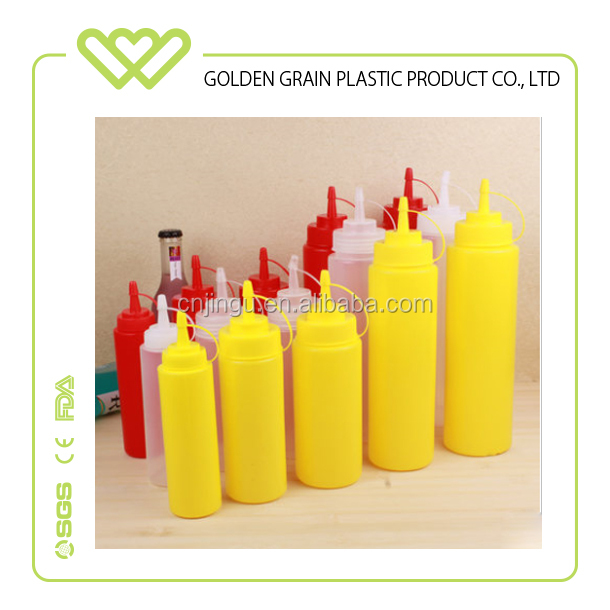 China Manufacturer BPA Free Food Grade Plastic Squeeze Sauce Bottle