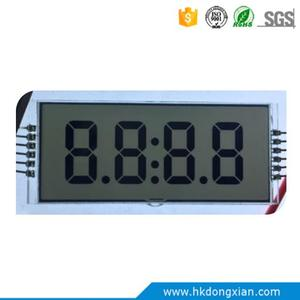 Custom good monochrome 7 segment 4 digit TN lcd display with pins