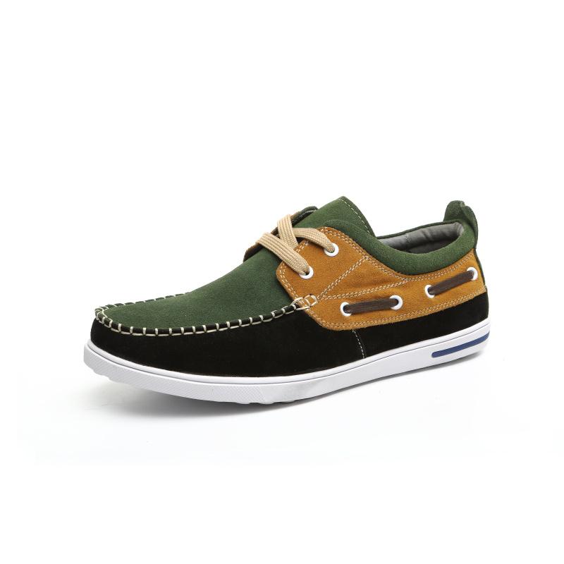Вилочная часть свободного покроя обувь круглый шнуровкой воздухопроницаемый обувь воловья кожа цвет блок украшение скейтбординг обувь