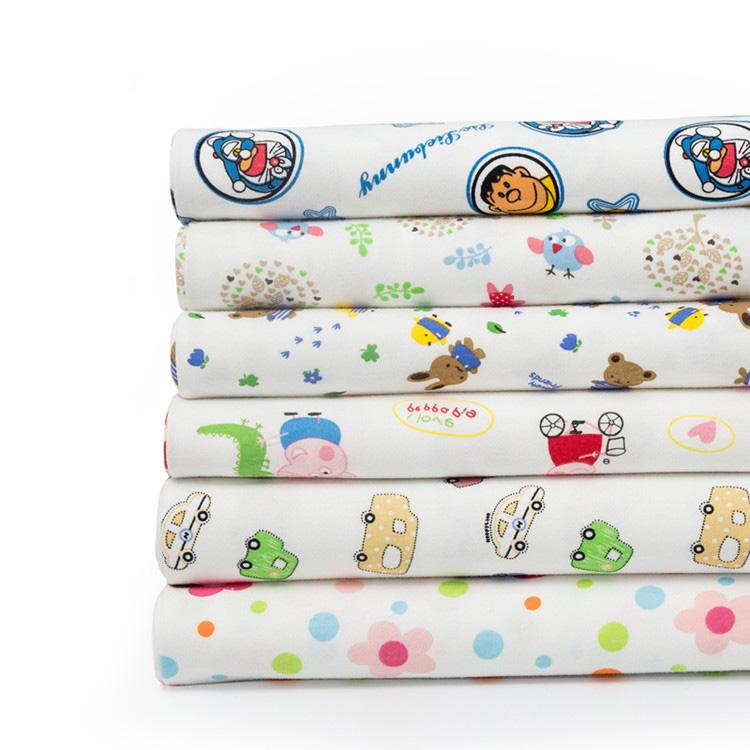 Eco-friendly 100% cotton cartoon baby prints wholesale fabric