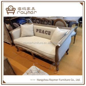 French countryside restaurant wooden sofa couches living room furniture