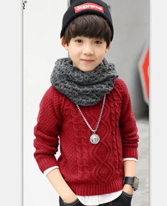 Warmly winter100%Cotton Children Turtle neck pullover sweater for