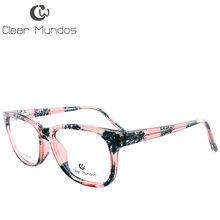 Прозрачные мужские и женские модные очки TR90 овальные дизайнерские оправы для очков Прозрачные Линзы для очков T8010(Китай)