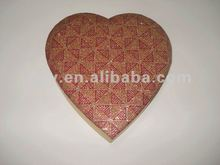 2012 GYY Silk lid heart shape box