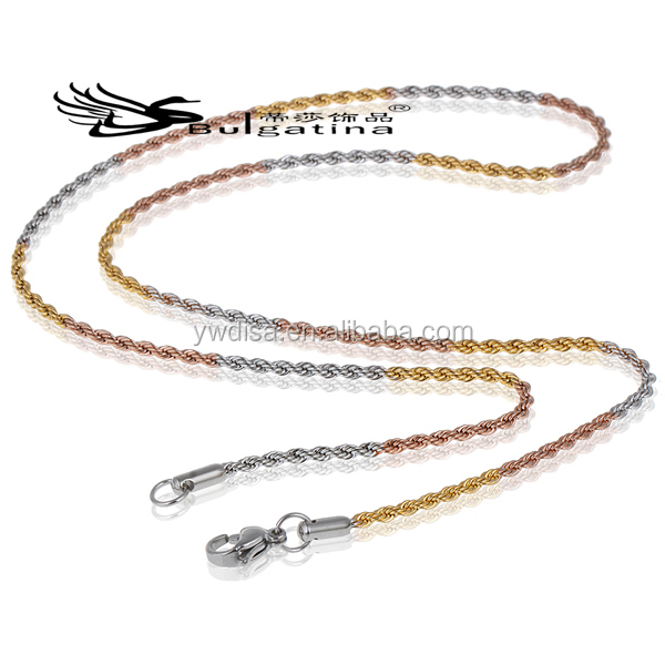 Latest Design Gold Chains Necklaces 2014 New Arrival,Fashion Gold Jewelry Stainless Steel 2014