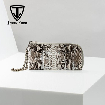 Real Luxury Black and White Natural Python snakeskin Clutch Bags OEM ODM
