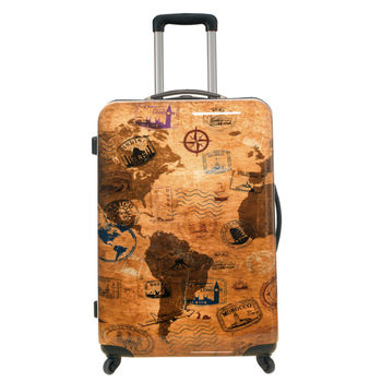 Cabin trolley luggage with world map buy trolley luggagecabin cabin trolley luggage with world map gumiabroncs Image collections