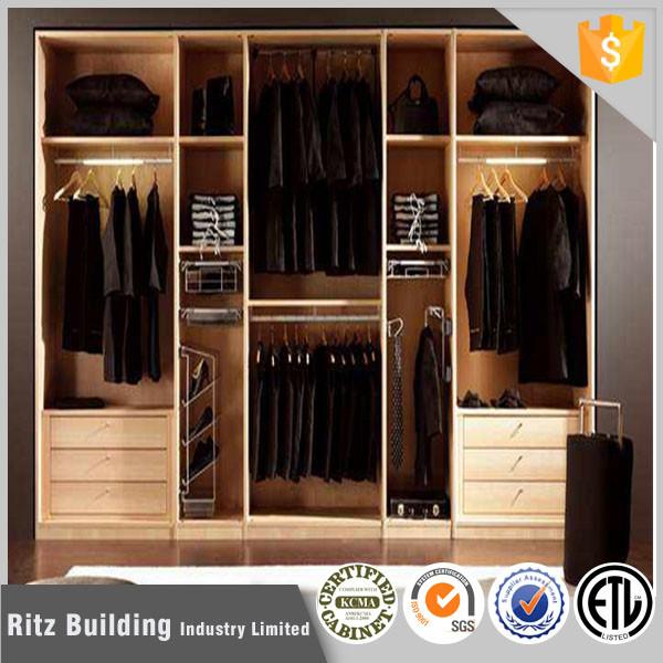 2017 Simple Design Bedroom Wardrobe Home Furniture Wood Walk In