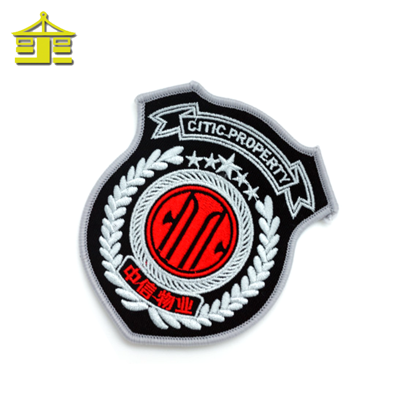 Brand Logo Garment Woven Badge Custom Woven Patch For Clothing