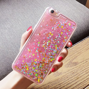 Fashional Shining Glitter Dynamic Liquid Quicksand Soft Tpu Phone Cover Case For i phone Samsung